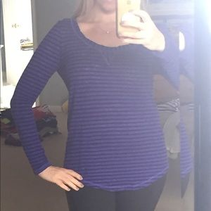 Banana Republic striped long sleeve top